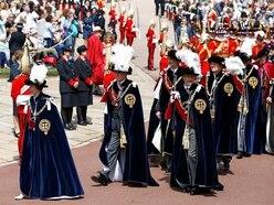 Senior royals don plumed hats and velvet robes for Garter Day service