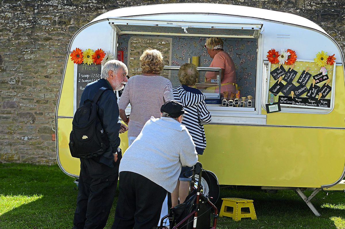 A quirky food stall at the festival held in the castle grounds