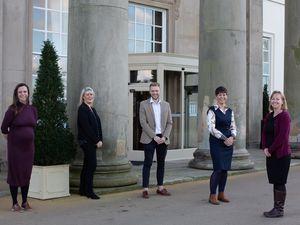 Left to right: Helen Povey, Caroline Pocock, Joshua Coffey, Sharon Connor and Kari Quant at Concord College