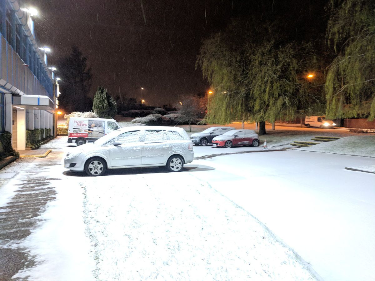 Early morning scene at the Shropshire Star office in Ketley