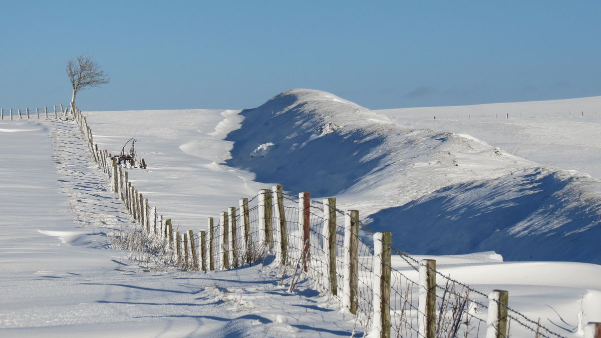 Janet Lewis's picture, called Offa's Dyke from Llanfair Hill, shows one of the county's most famous natural landmarks in the grip of wintry weather, and was highly commended