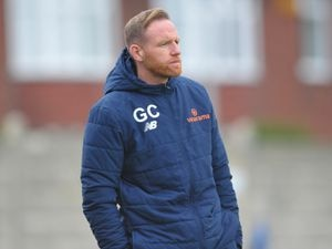 TELFORD COPYRIGHT MIKE SHERIDAN Telford boss Gavin Cowan during the Vanarama Conference North fixture between AFC Telford United and Boston United at the Northolme, Gainsborough on Saturday, October 24, 2020...Picture credit: Mike Sheridan/Ultrapress..MS202021-034.
