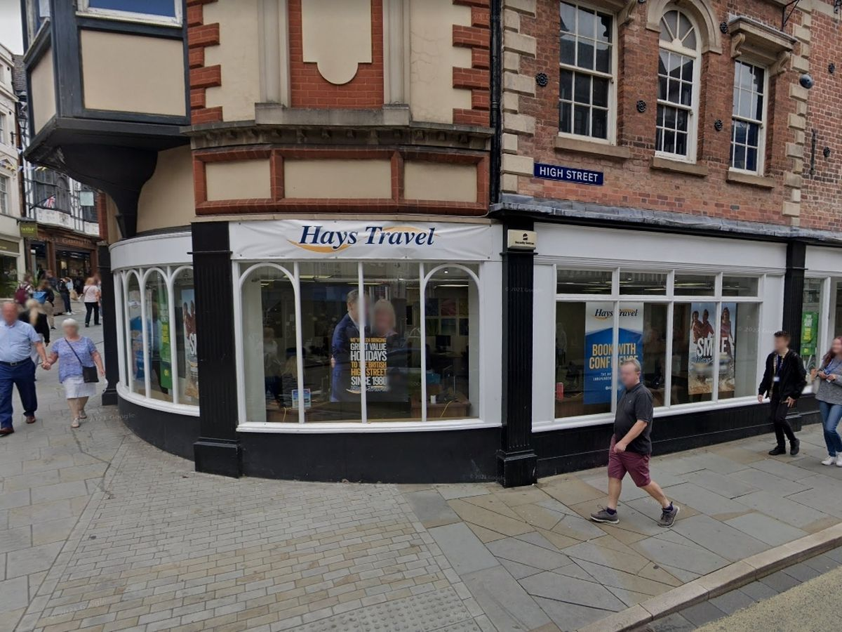 The site of the new store, which was previously Hays Travel.