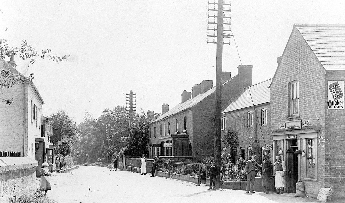 West Felton in the early 20th century, as Olwen Price would have remembered it