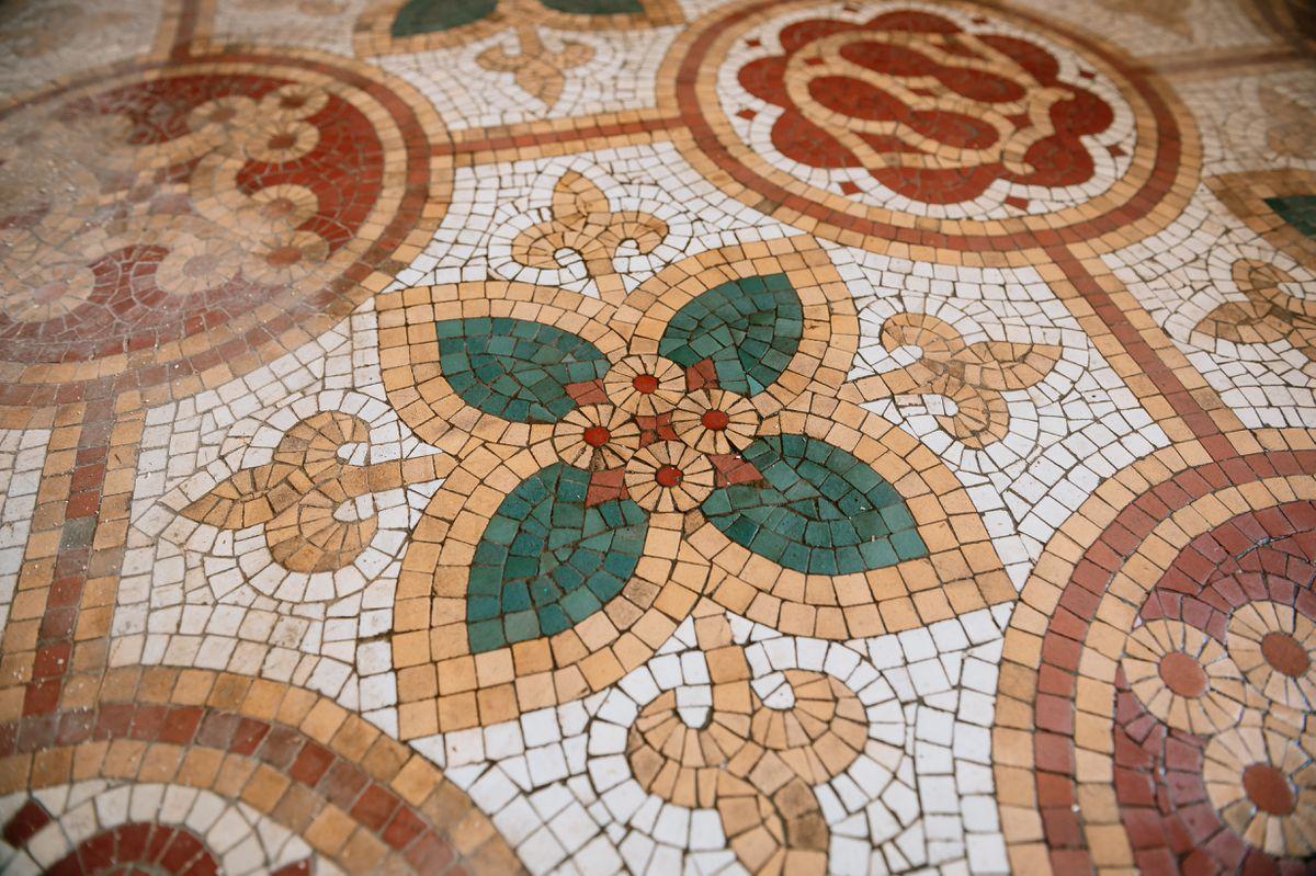 The historic Pugin flooring