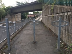 'Potentially lethal abomination': Rider slams Telford cycleway barriers