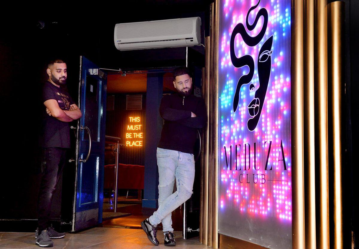 Aquib Janjua and Hazim Owens at Meduza nightclub