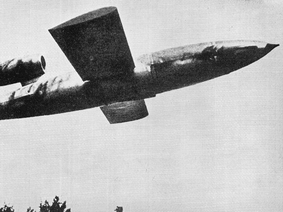 When launched from aircraft flying bombs were able to reach the Midlands and the north of England.