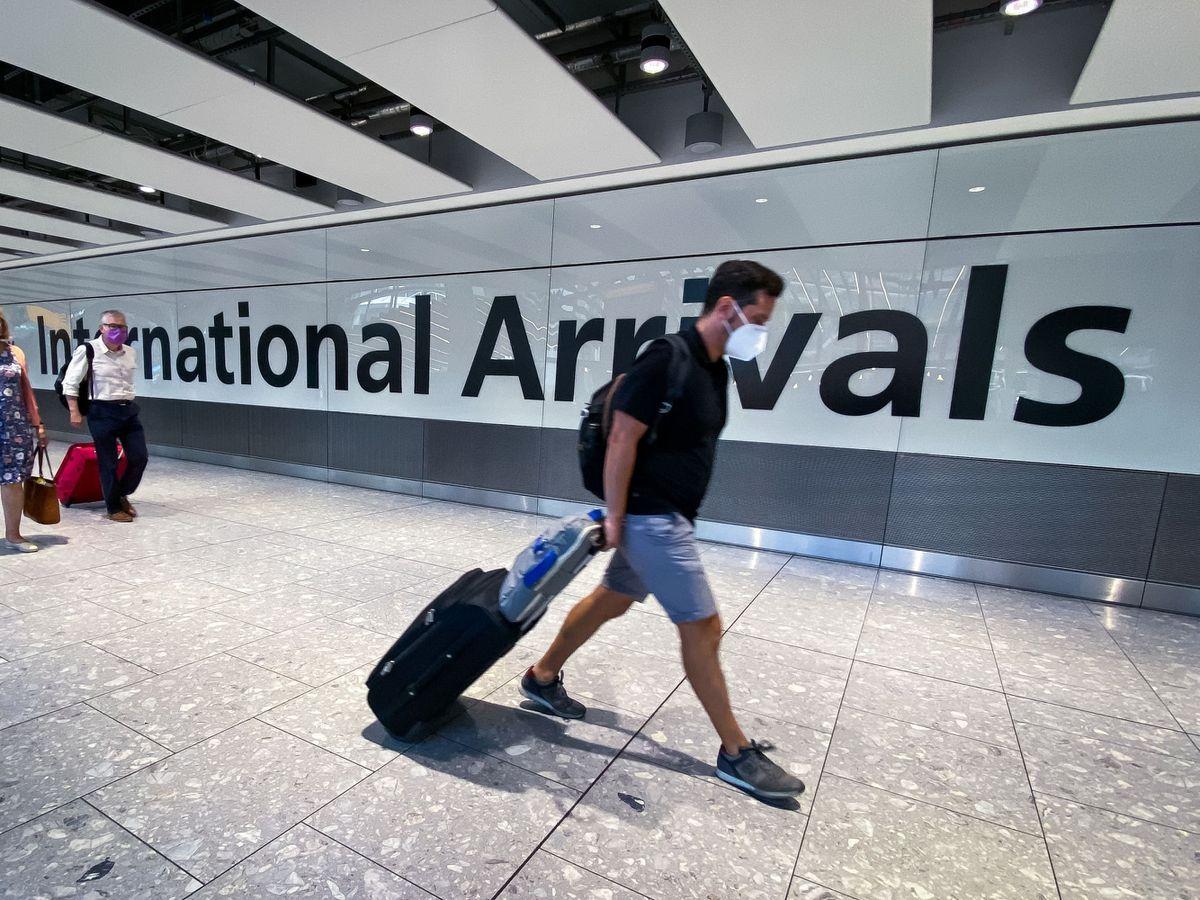 A passenger at Heathrow