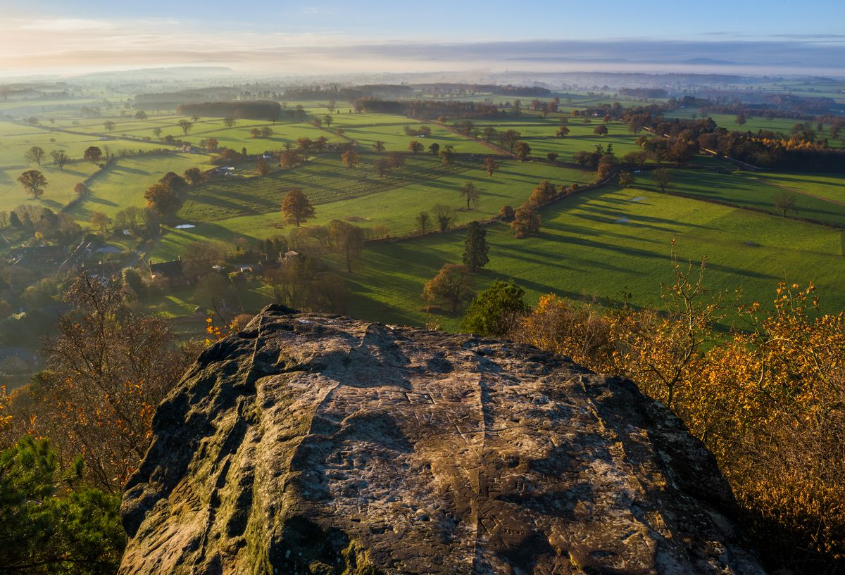 North Shropshire, seen from Grinshill Hill..