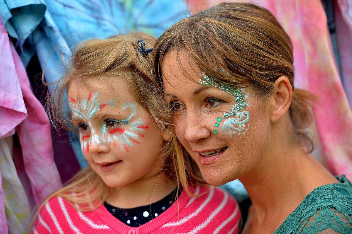 Facepaint fun for Sienna Derhe, 6, and Kerry Derhe
