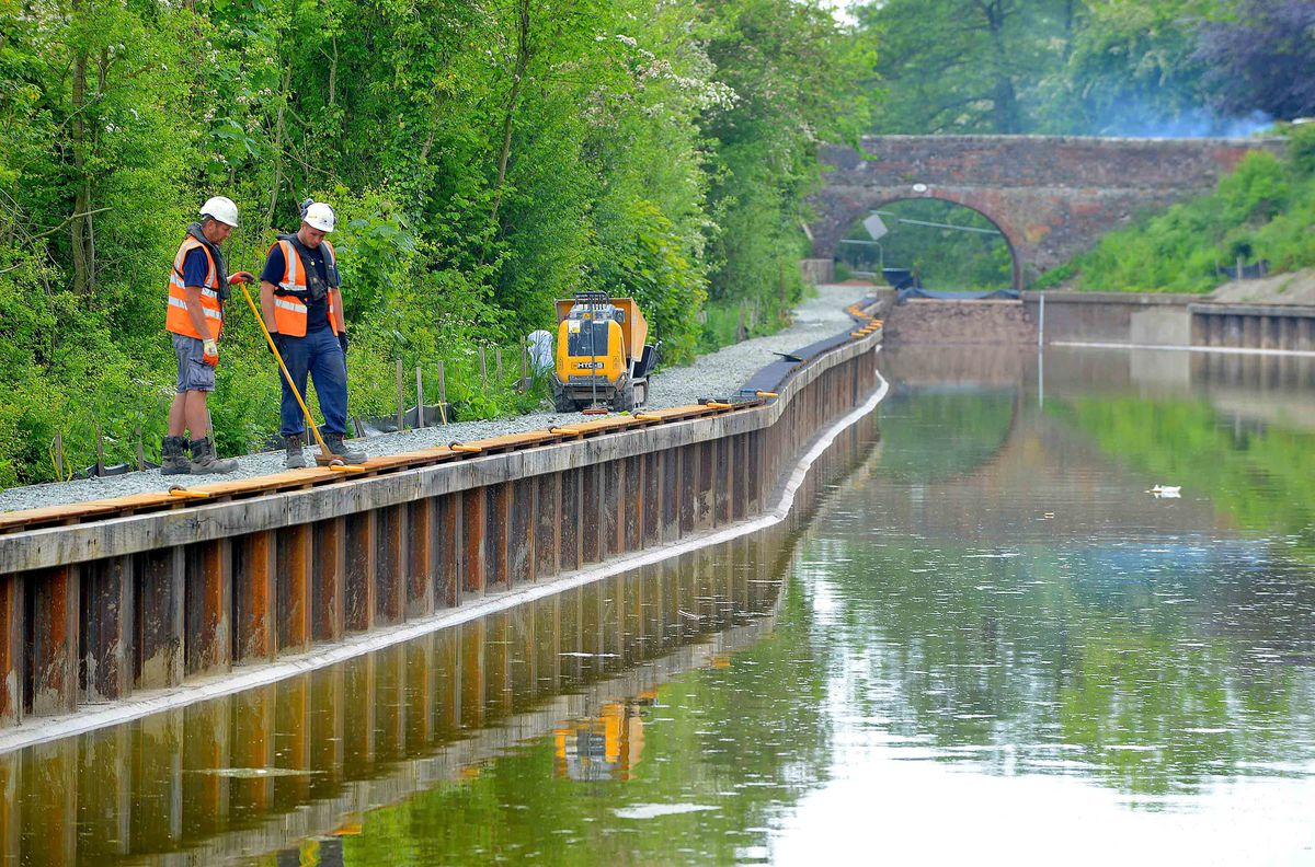 Another section of the Montgomery Canal near Oswestry was re-opened last year