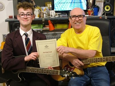 Result is music to Newport guitarist's ear
