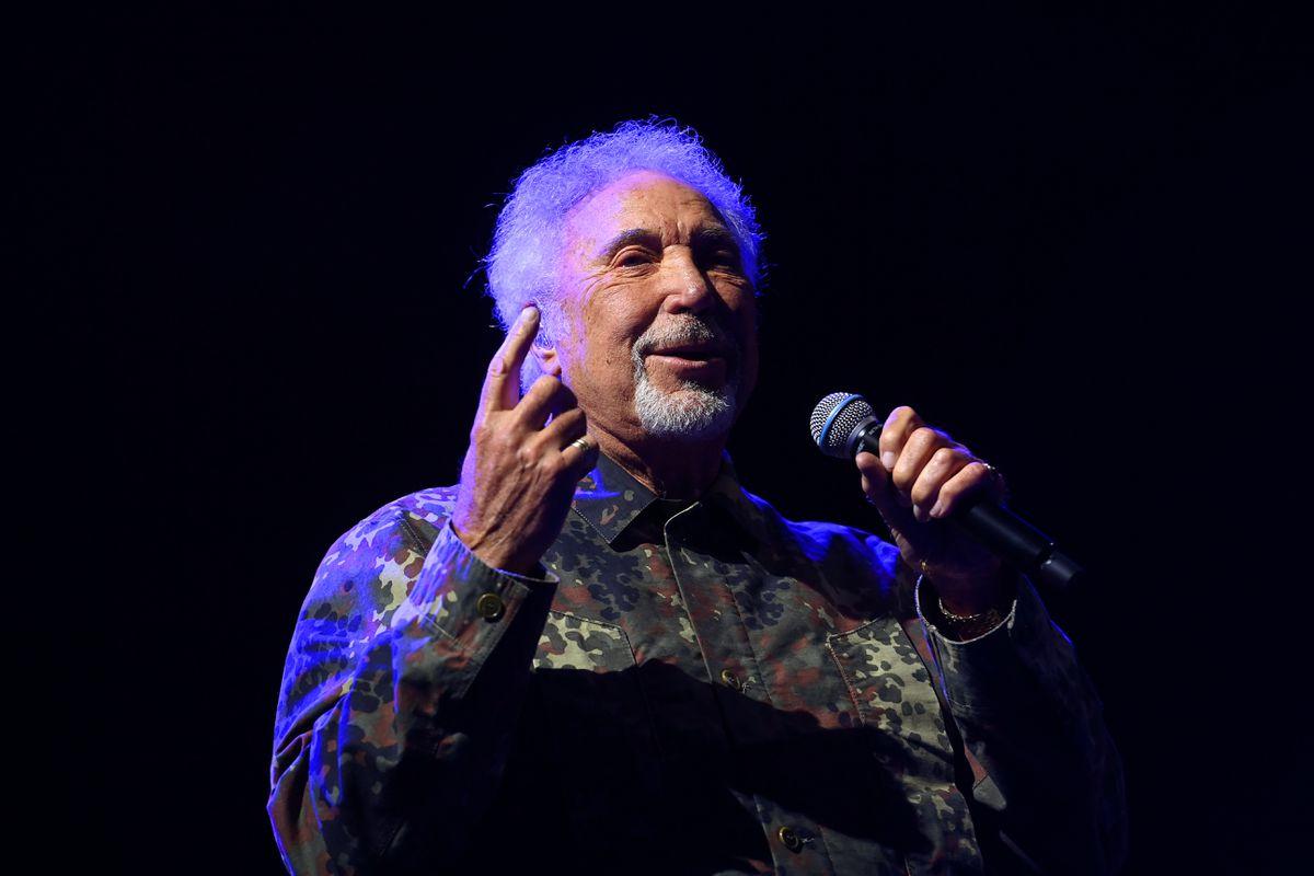 Tom Jones performing at Telford's QEII Arena. Picture: Sam Bagnall
