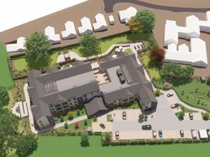 An artist's impression of the planned care home