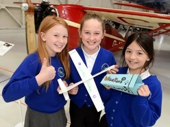 High-flying pupils in glider design contest at RAF Cosford - with pictures