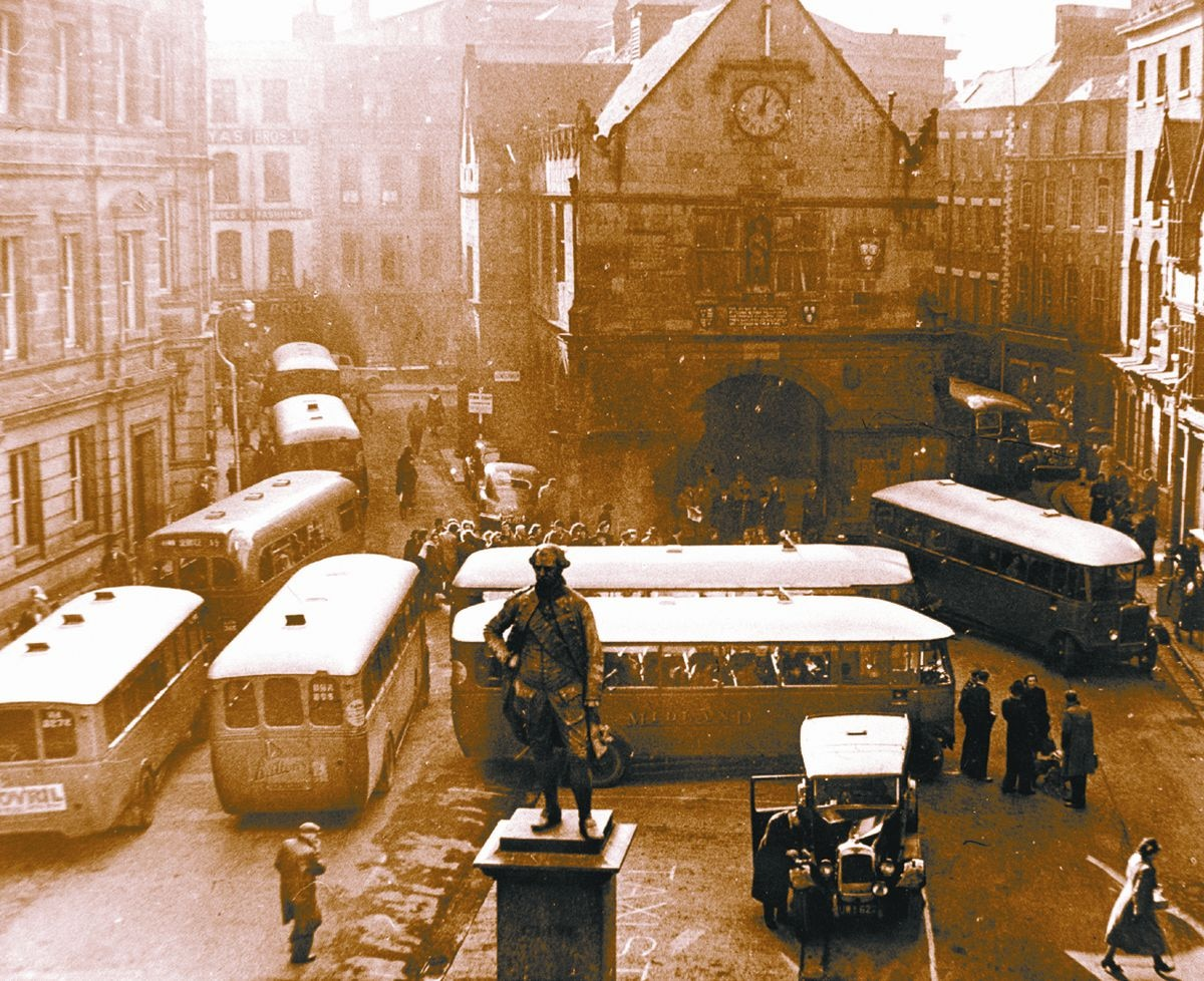 When the Square was being used as a bus station in 1949