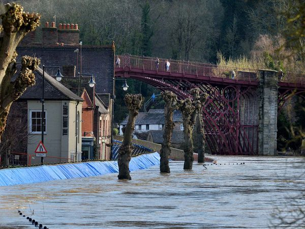 The River Severn was expected to peak in Ironbridge early on Saturday
