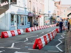 New social distancing barriers installed in Oswestry
