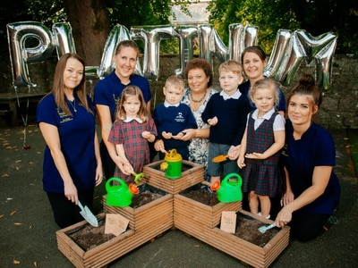 Oswestry nursery celebrates platinum success