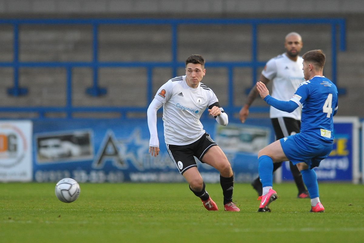 Adam Walker of Telford during the Conference North fixture between AFC Telford United and Chester FC