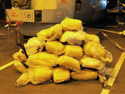 Royal Navy warship seizes £1.6 million worth of narcotics