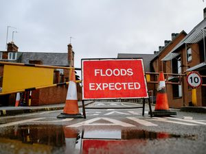 Flood barriers have gone up at Frankwell Car Park in Shrewsbury