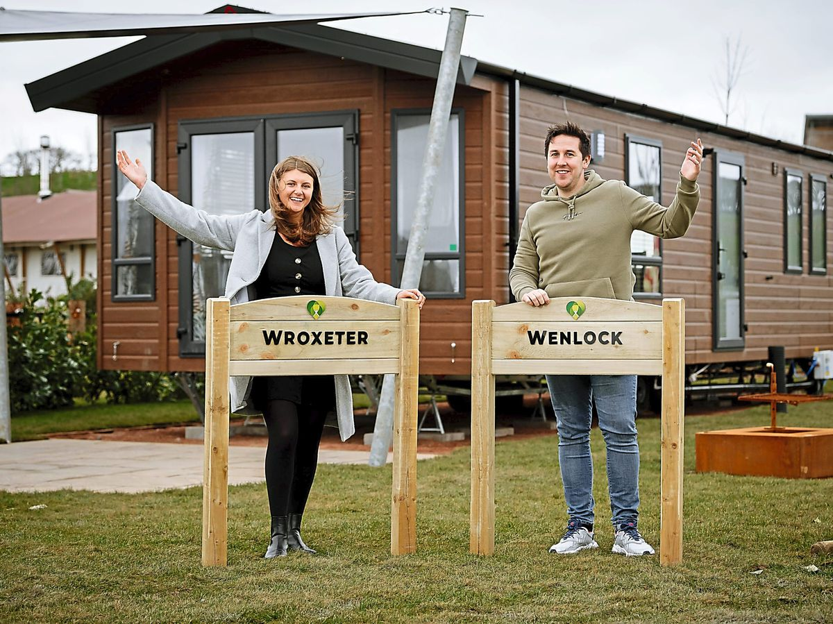 Love2Stay glamping – Laura Wilde (marketing) and Chris Skitt (general manager)