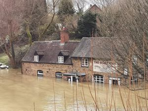 The Boat Inn in Coalport under water. Photo: Liam Ball
