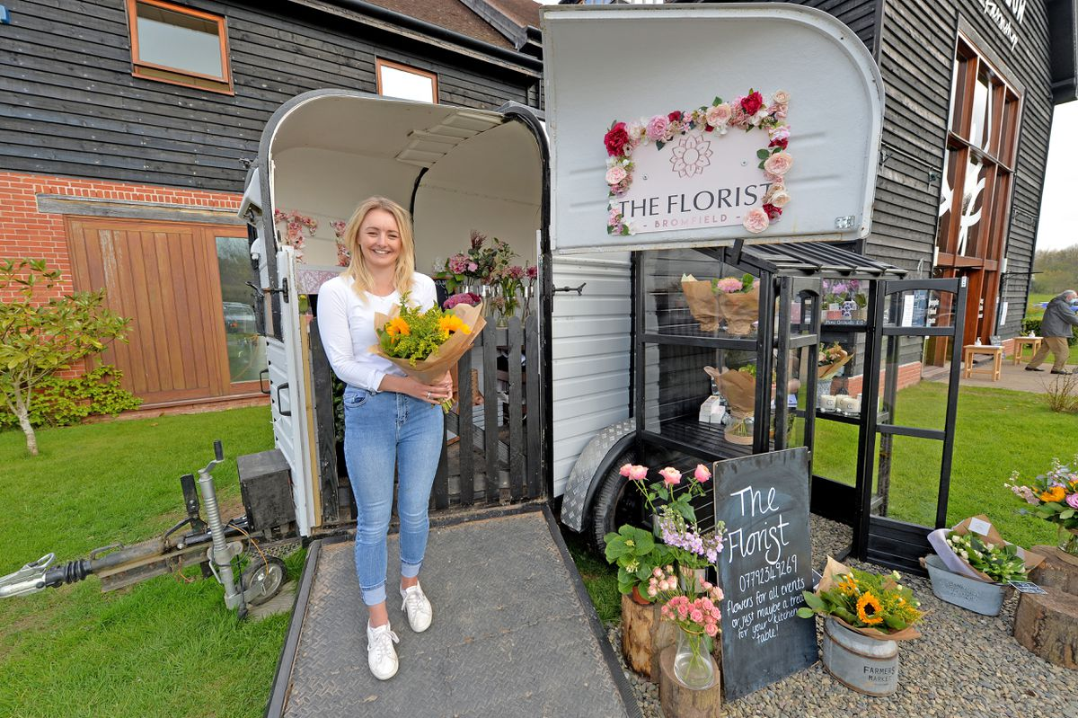 Sam Sexton renovated an old horse box into a florist
