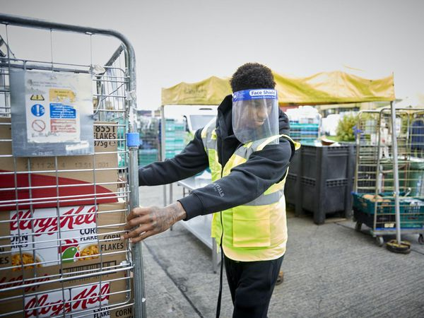 Marcus Rashford at FareShare