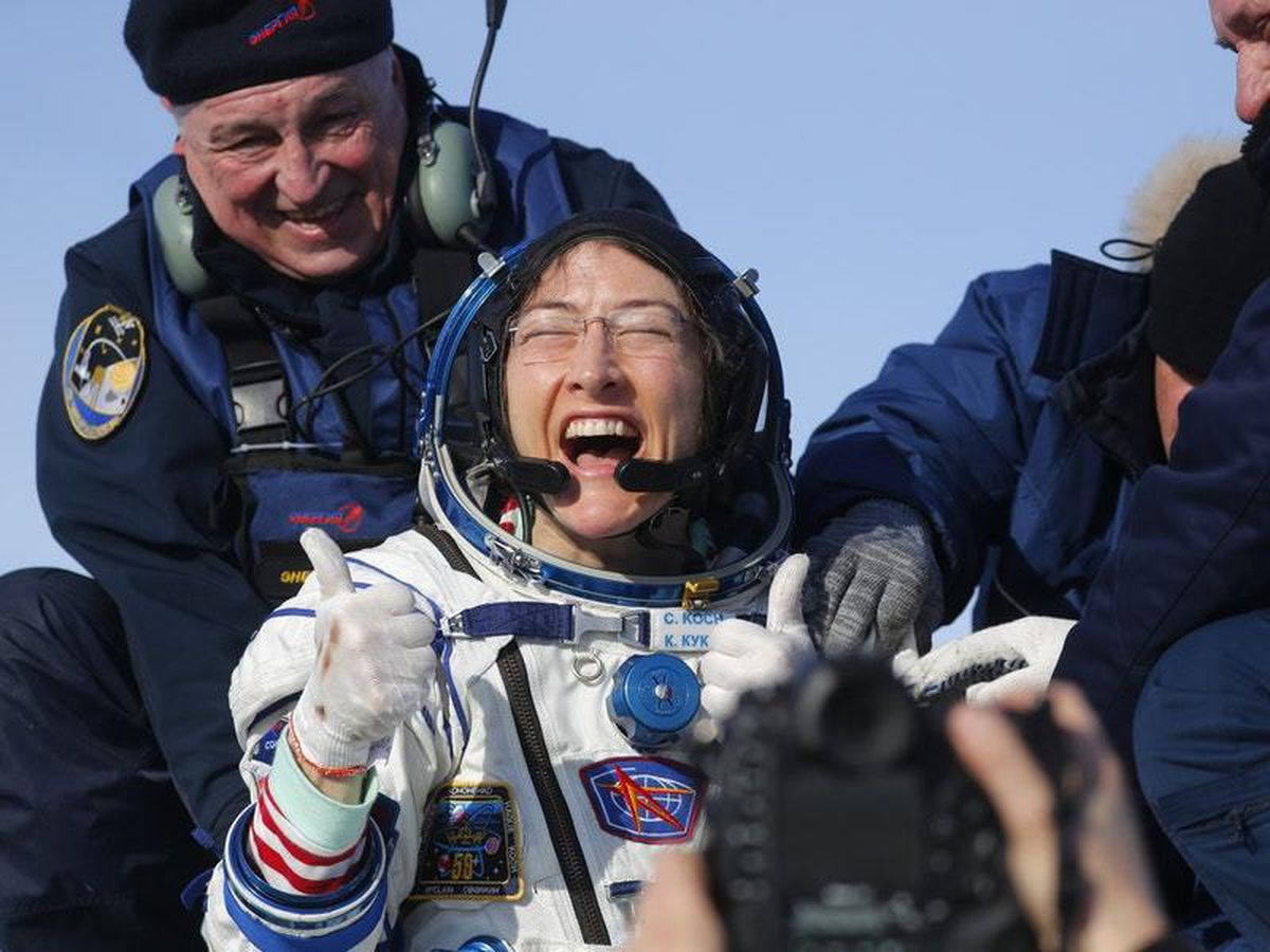 US astronaut Christina Koch