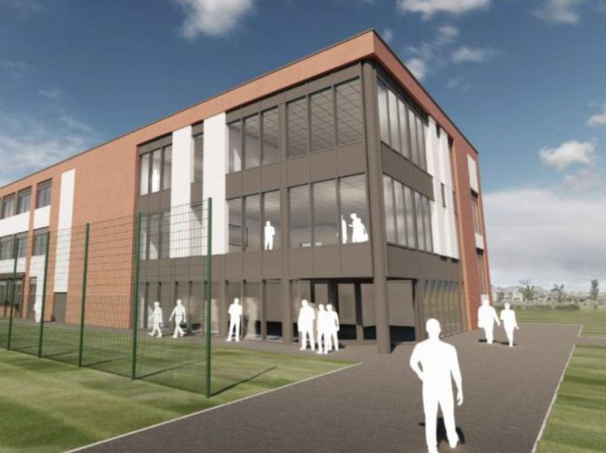A view of the new block proposed for Holy Trinity Academy. Picture: Bond Bryan Architects