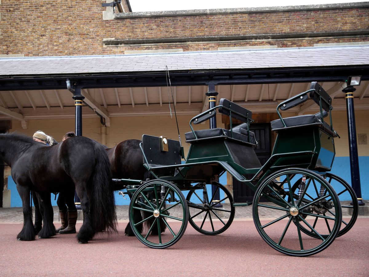 The driving carriage used by the Duke of Edinburgh, at Windsor Castle, Berkshire