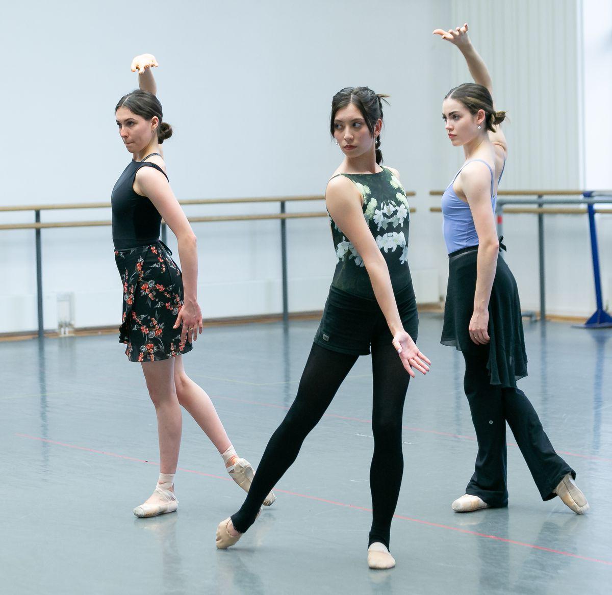 Tori Forsyth-Hecken, Alys Shee and Eilis Small as Hunters; photo Dasa Wharton