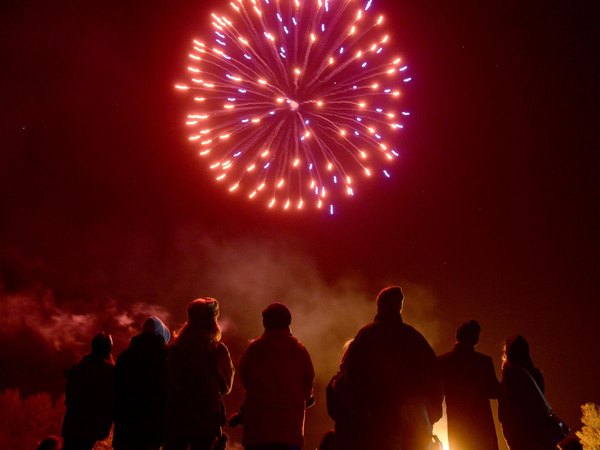 The annual Shrewsbury bonfire and fire works at the West Mids Showground