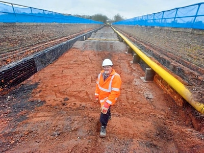 Track lifted for work on Severn Valley Railway's historic viaduct - with video