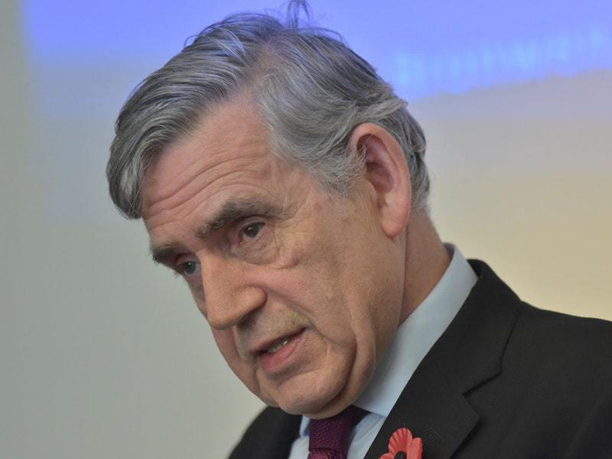 Former prime minister Gordon Brown, who accused the UK Government of 'downplaying' the risks of medicine and food shortages in the event of a no-deal Brexit