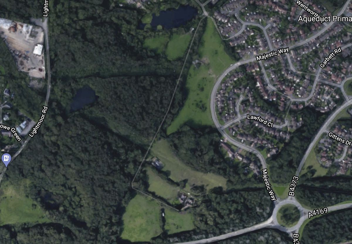 Living Space Housing Ltd plans to build 39 houses on land west of Majestic Way, Aqueduct. Image: Google.