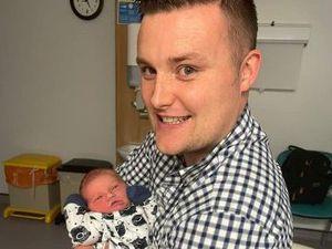 Much Wenlock Mayor Dan Thomas with his son Eric