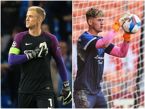Shrewsbury-born goalkeeper Joe Hart, who went on to star for Manchester City and England, left, and Town youngster Jaden Bevan, who idoloses his fellow hometown shot-stopper (AMA)