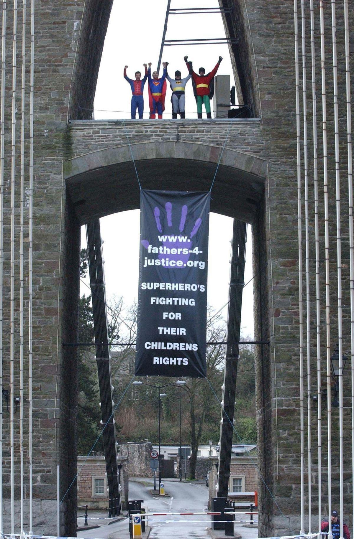 Members at Clifton Suspension Bridge