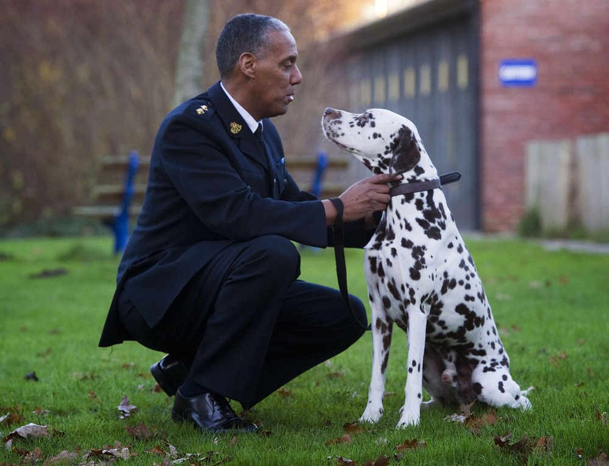 RSPCA inspector Nayman Dunderdale with Enzo