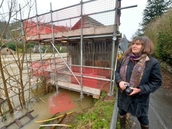 Shropshire flooding: Coracle shed saved in the nick of time