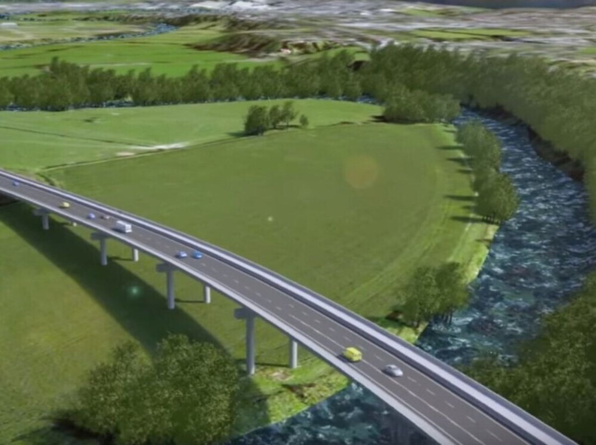 An artist's impression of how one of the bridges would look