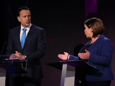 Varadkar and Martin clash with McDonald in RTE leaders' debate