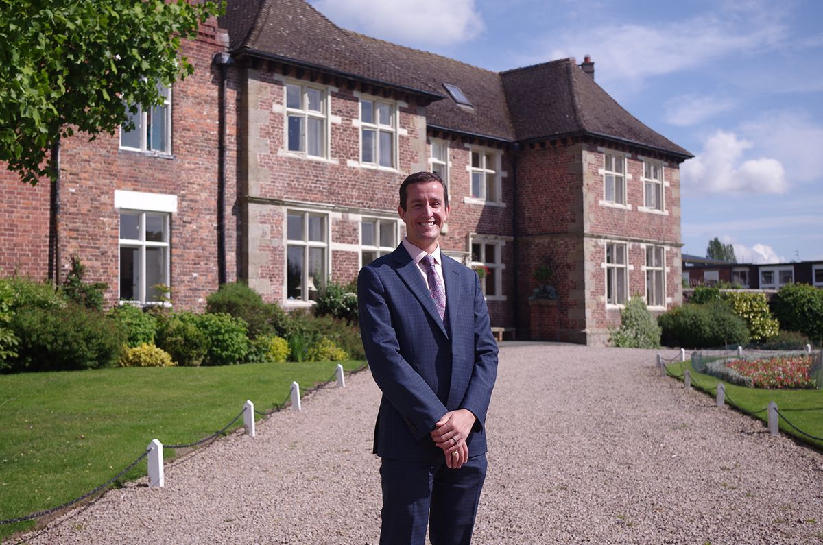 Principal George Budd at Moreton Hall School, Oswestry