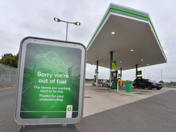 The BP garage in Newport was among sites without fuel on Saturday