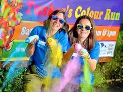 Colour run at Shropshire Hills discovery centre