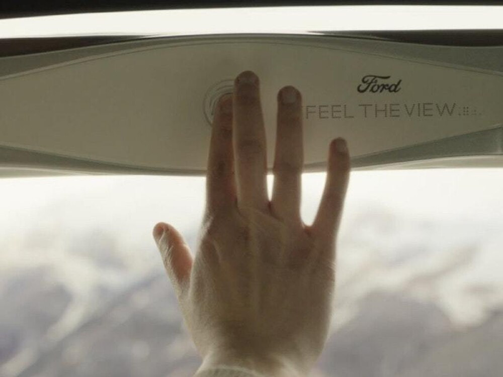 Ford has created a smart window that describes views for blind passengers